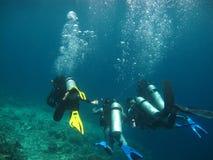 Plongée en mer photographie stock