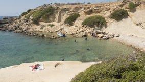 Plongée en Rhodes Image libre de droits