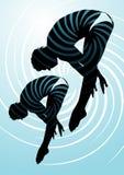plongée synchronisée Image libre de droits