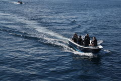 Plongeant en île de Komodo, l'Indonésie Image libre de droits