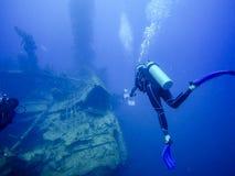 Plongeant en Barbade, des Caraïbes Photos stock