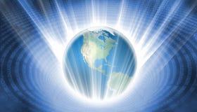 Plongement de la terre dans des données Image libre de droits