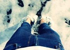Plongement de mes pieds Photographie stock libre de droits