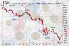 Plongement des marchés boursiers image libre de droits