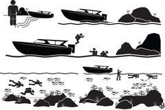 plongeur illustration libre de droits
