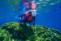 Plongeur Image stock