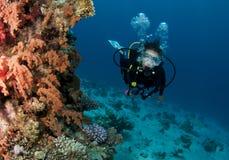 Plongeur autonome Image stock