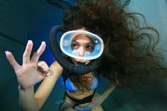 Plongeur autonome Photos stock
