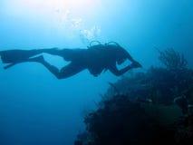 Plongeur autonome Images stock