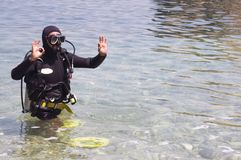 Plongeur autonome Photographie stock