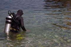 Plongeur autonome Photo libre de droits