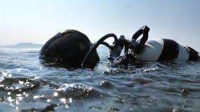 Plongeur autonome au travail banque de vidéos