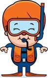 Plongeur autonome Boy illustration stock
