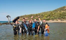 Plongeur autonome Course Photo stock