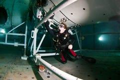 Plongeur autonome de l'espace Images libres de droits
