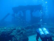 Plongeur d'épave Photos stock