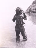Plongeur de mer profonde Photo stock