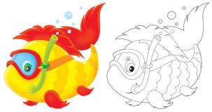 Plongeur de poissons Image libre de droits
