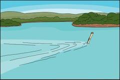 Plongeur en bambou de prise d'air Illustration de Vecteur