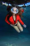 Plongeur féminin Photos libres de droits