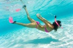 Plongeur libre Photos libres de droits