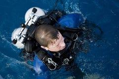 Plongeur technique Photographie stock libre de droits
