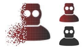 Plongeur tramé détruit Armor Icon de Pixelated illustration stock