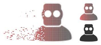 Plongeur tramé réduit en fragments Armor Icon de pixel illustration stock
