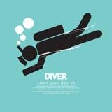 Plongeur Vector Illustration Images stock