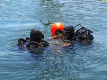 Plongeurs Photographie stock libre de droits
