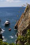 Plongeurs célèbres de falaise Photos stock