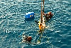 Plongeurs commerciaux Image stock