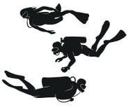 Plongeurs de vecteur Image libre de droits