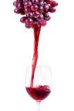Plons rode wijn Royalty-vrije Stock Afbeelding
