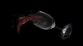 Plons van glaswijn Royalty-vrije Stock Foto's