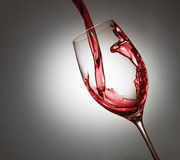 Plons van wijn Stock Foto