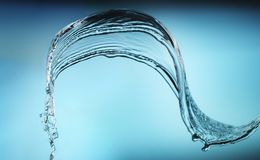 Plons van water Stock Afbeelding