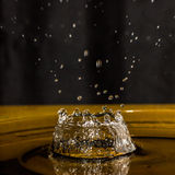 Plons van waterdaling Stock Foto