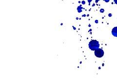 Plonsen van waterverfblauw op witte, tegenover elkaar stellende dalingen Futuristische stijlkaart concept Elegant voor bedrijfspr Royalty-vrije Stock Foto's