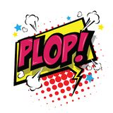 Plop! Comic Expression Vector Text. Royalty Free Stock Photography