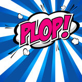 Plop! Comic Expression Vector Text. Stock Photography