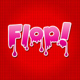 Plop! Comic Expression Vector Text. Stock Photo