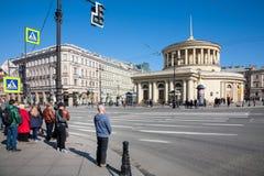 Ploshchad Vosstaniya, Heilige Petersburg, Rusland stock fotografie