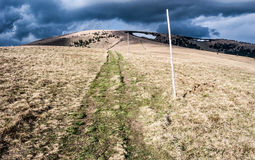 Ploska hill in spring Velka Fatra mountains in Slovakia Stock Photo