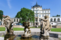 Ploskovice castle near Litomerice, Bohemia, Czech republic, Europe Royalty Free Stock Photo
