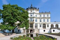 Ploskovice slott nära Litomerice, Bohemia, Tjeckien, Europa Arkivbild