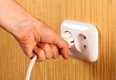 Plot blanc électrique Images stock