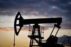 Plot de pompe de pétrole Images stock