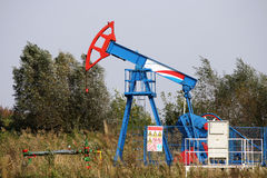 Plot de pompe de pétrole Photos stock