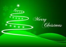 Plot green christmas. Christmas plot design green Royalty Free Stock Photography